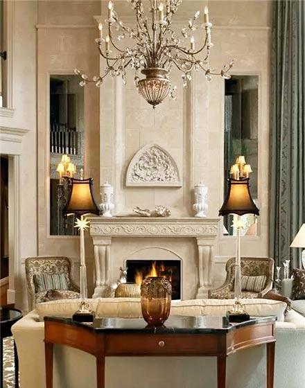 复古欧式风格客厅设计图片