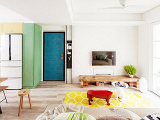 75平米乡村田园风格客厅设计