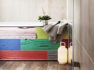 75平米乡村田园风格卫生间浴缸设计