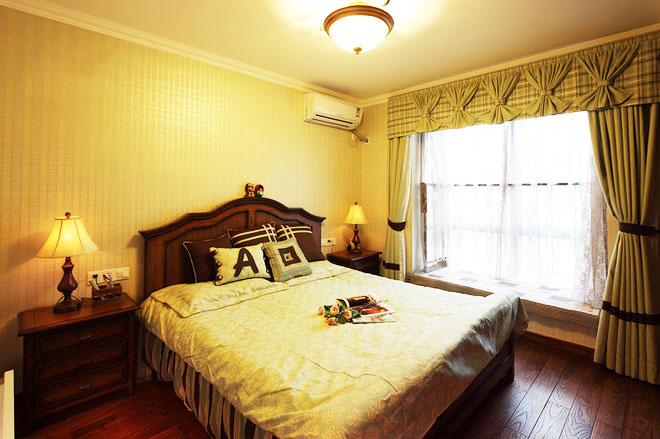 115平米美式田园风格卧室设计