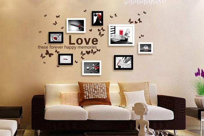 甜蜜照片墙设计图