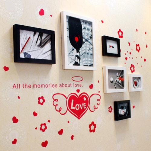 甜蜜照片墙设计效果图