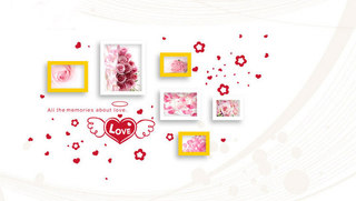 甜蜜照片墙装修设计效果图