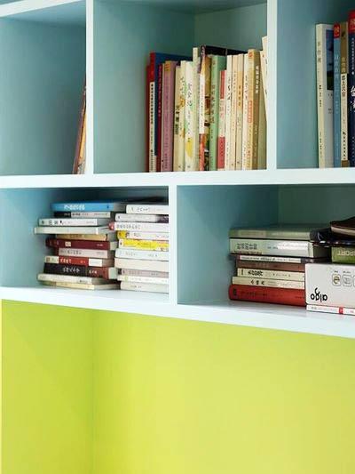 55平米装修效果图书柜设计