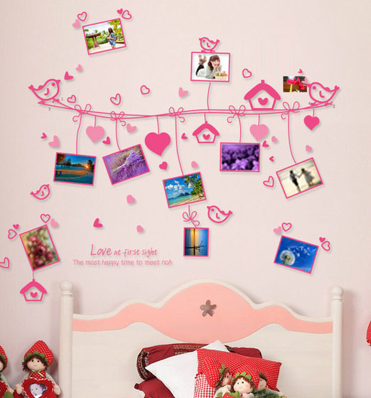 粉色美好时光照片墙