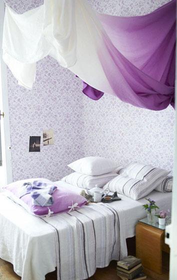 紫色北欧卧室设计