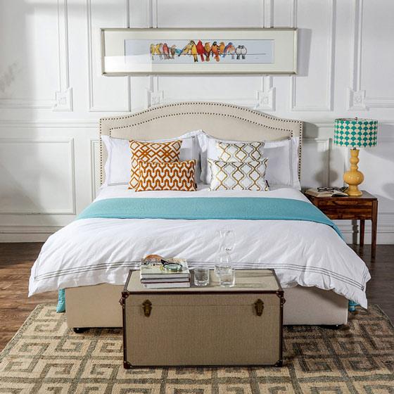 清新白色卧室效果图