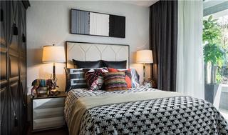 灰色时尚卧室效果图
