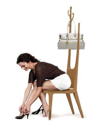 时尚创意衣架椅来袭