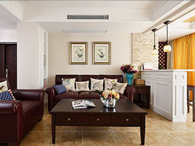 大气美式风格装修设计 170平米复式空间