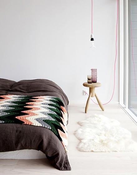 卧室舒适温暖地毯设计