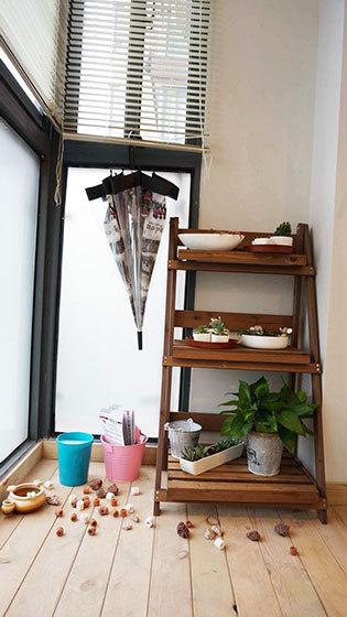 90平米简约风格家阳台花架设计