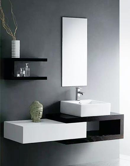 简约卫浴间洗手台