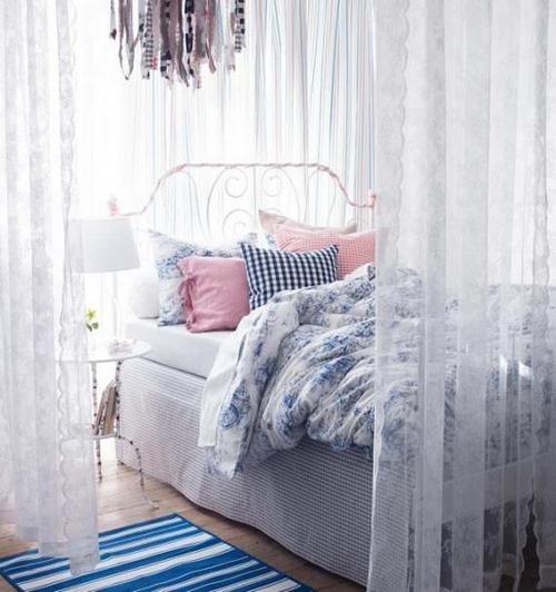 简约梦幻白色卧室
