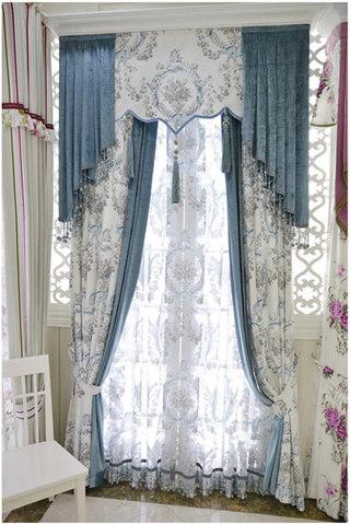 华丽蕾丝窗帘效果图
