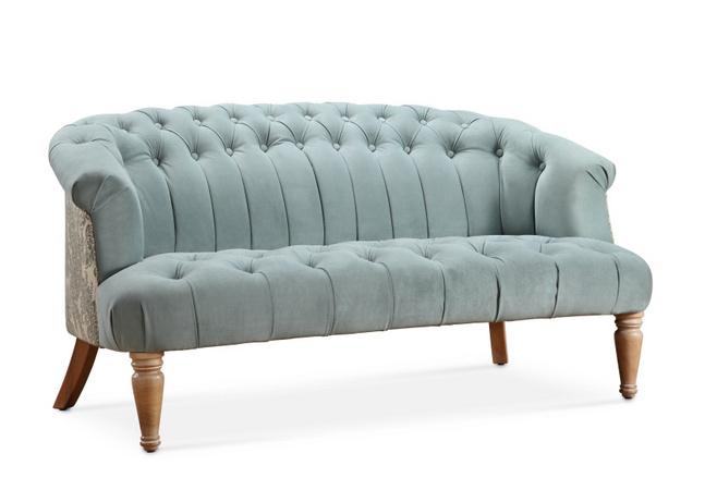 薄荷色新古典沙发图片