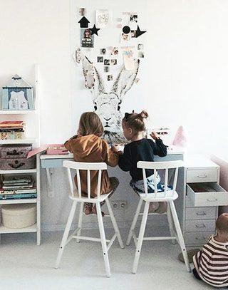 清新可爱双人儿童小书房