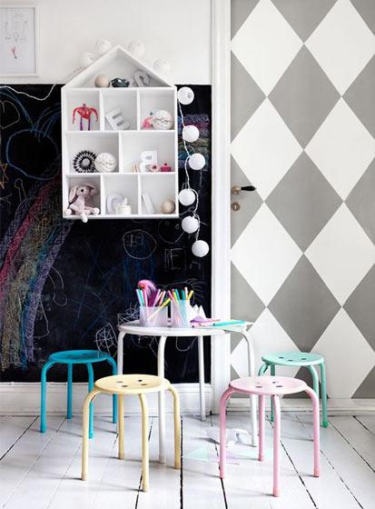 家居涂鸦背景墙设计图片