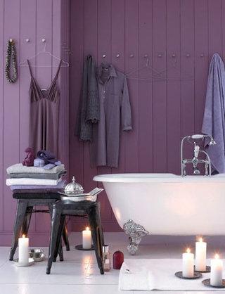 梦幻紫色浴室效果图