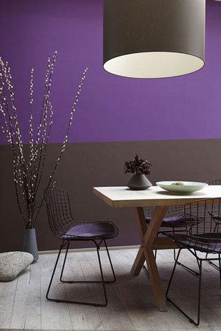 梦幻紫色餐厅效果图