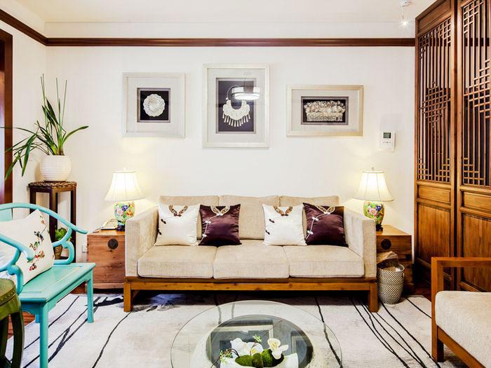 110平米的文艺空间客厅沙发设计2/18