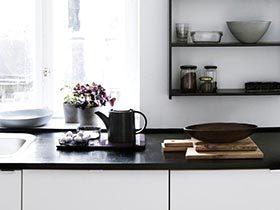 经典黑白配 11个清爽黑白色厨房设计