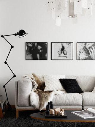 简洁米色客厅沙发效果图