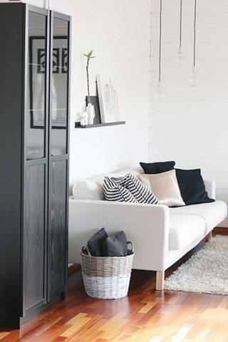 简约米白色客厅沙发图片