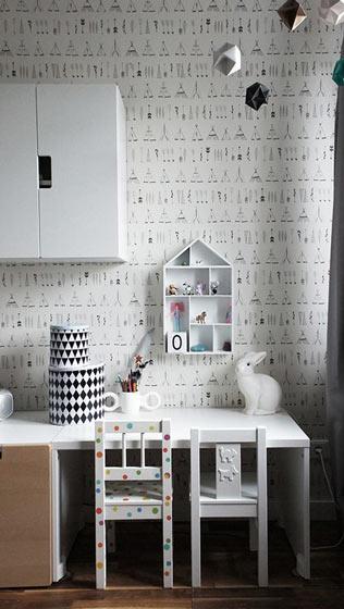 时尚几何图案儿童房设计