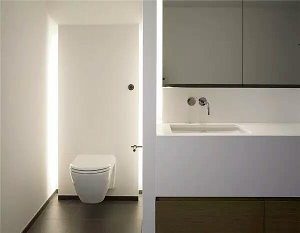 卫浴间灯光为家增添艺术感