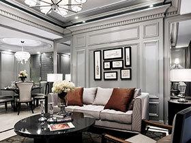 150平方装修效果图 奢华银灰色公寓设计
