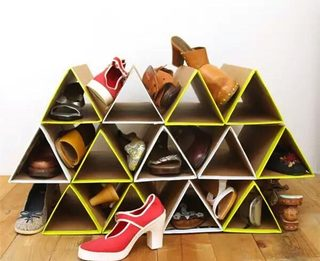 包装盒DIY变鞋架