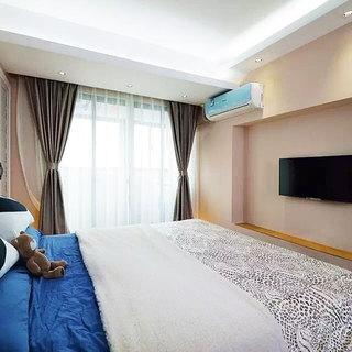 时尚简约现代风卧室窗帘设计