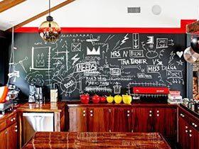 背景墙新玩法 11个厨房黑板涂鸦墙