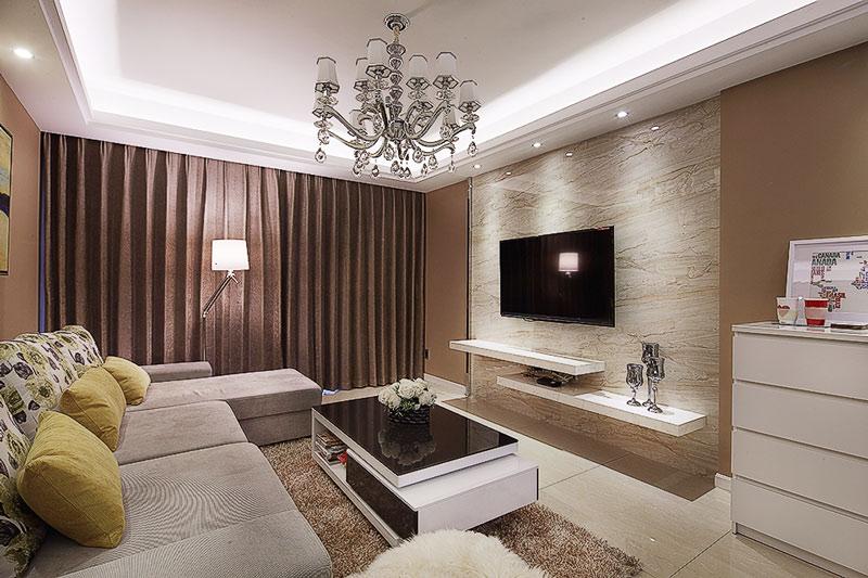 2016现代简约客厅装修效果图高清图片