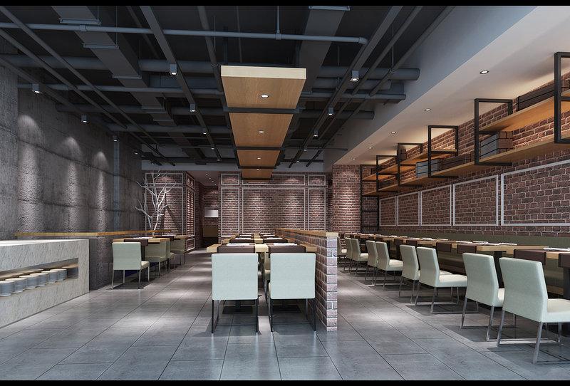 140平米以上loft跃层装修效果图,集美万达金街罗莎牛排一店装修案例高清图片