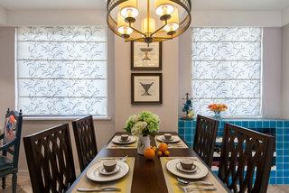 美式实木餐桌图片