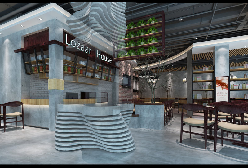 20万以上140平米以上混搭四居室装修效果图,建发悦享中心罗莎牛排高清图片
