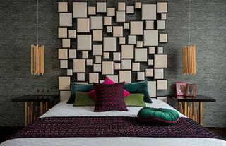 别墅卧室背景墙装修效果图