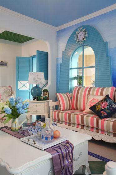 地中海客厅茶几图片