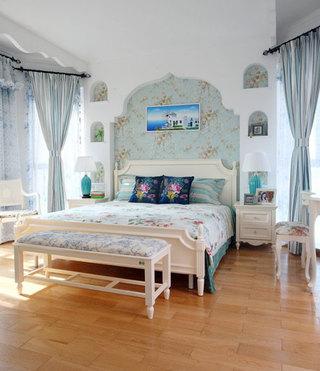 地中海风格卧室装修效果图