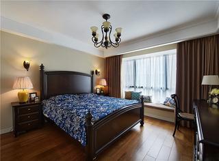 休闲复古美式 咖色系卧室图片