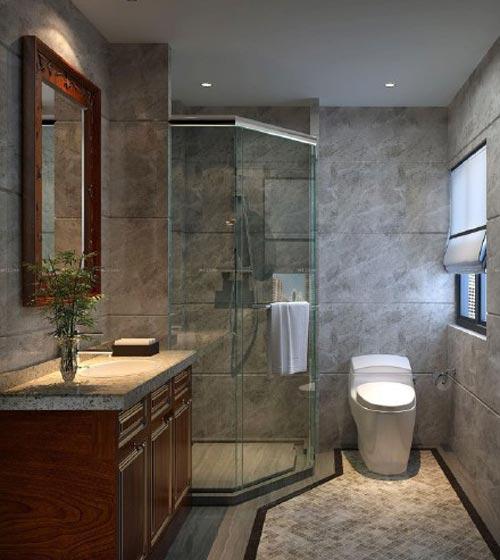 卫生间淋浴房隔断装修效果图