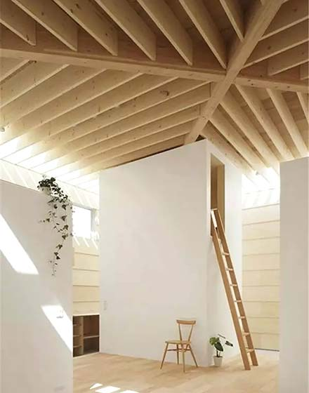 创意客厅木质吊顶效果图