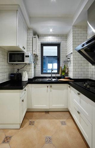美式黑白厨房装修设计