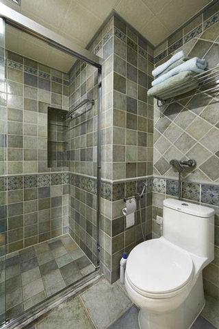 简约现代风卫生间 马赛克瓷砖效果图