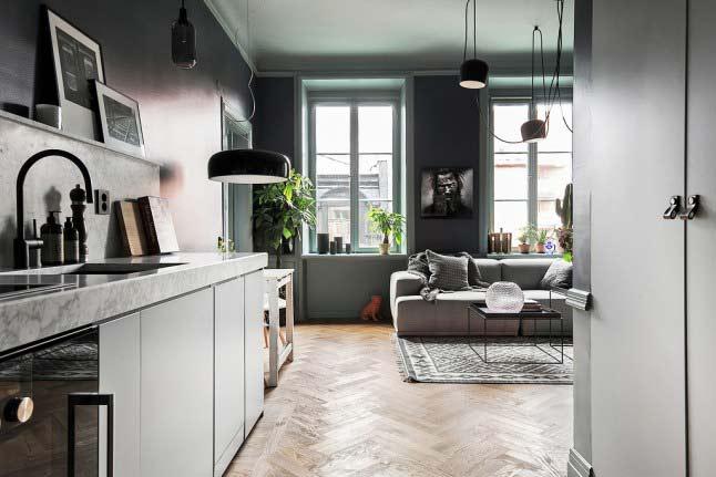 厨房客厅一体装修效果图