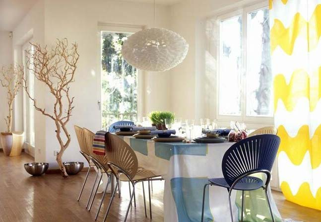 小清新餐厅桌布装饰图片