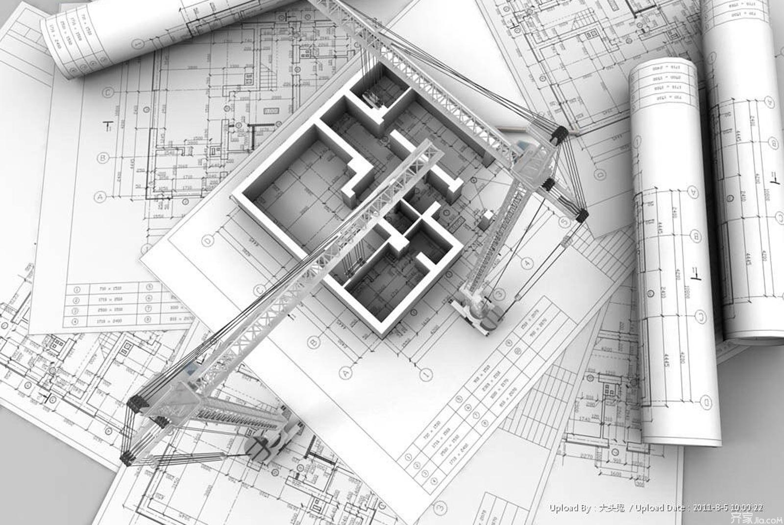 建筑蓝图 - 建筑施工图、住宅建筑设计蓝图,住宅建筑3d蓝图,建筑图纸、模型设计,建筑施工图,住宅楼平立剖面图,   建筑施工图