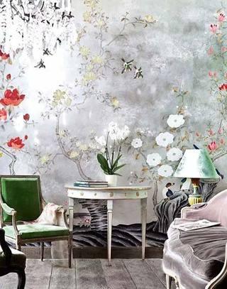 清新客厅壁纸装饰图平大全